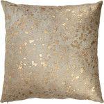 Barneys New York Gold-Spotted Haircalf Pillow