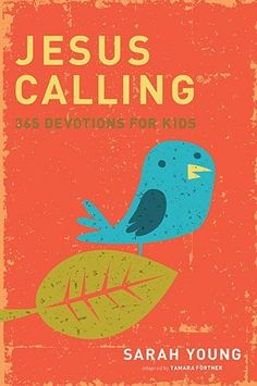 Jesus Calling: 365 Devotions For Kids by Sarah Young, http://www.amazon.com/dp/1400316340/ref=cm_sw_r_pi_dp_q5X9qb1FY9XQP
