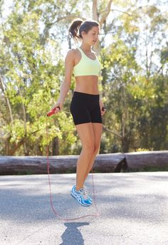 7-minute to Do This 50-to-5 TOTAL-Body Workout: 1) 50 Jump Ropes 2) 45 Pulsing Sumo Squats 3) 40 Mountain Climbers 4) 35-second Elbow/Regular Plank Hold 5) 30 Alternating Forward Lunges  {15 Right/Left} 6) 25 Diamond SitUps 7) 20 Planks w/Bunny Hops {10 right/left} 8) 15 Tricep Dips 9) 10 Knee/Full PushUps 10) 5 Burpees