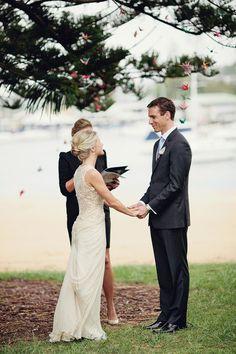 Carly & Michael West Wedding Ceremony - Clontarf March 2013 - Danielle Ledgerwood Celebrant Read more - http://www.stylemepretty.com/australia-weddings/new-south-wales-au/sydney/2012/03/21/sydney-wedding-by-kellee-walsh/