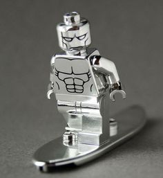Chrome Surfer CustomBricks Custom Minifigure - Minifigures.co.uk