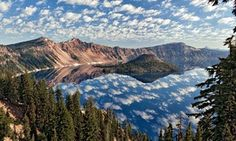 OR:  Top 10 national and state parks. Pictured is Wizard Island in Crater Lake National Park
