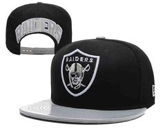 NFL Oakland Raiders Black Snapback Hats--YD