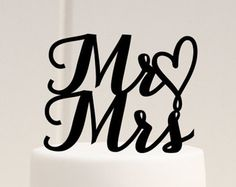 Wedding Cake Toppers with First Names Inside by ChicagoFactory