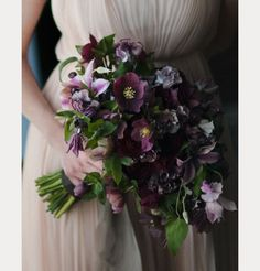 In love with this dark purple bouquet ~ we ❤ this! moncheribridals.com