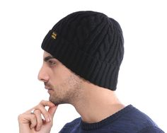 473e245c52c86 Men s Winter Hat Caps Skullies Bonnet Knitted Hat Bonnet Fashion Caps - Hats  · Sombreros de inviernoSombreros para hombre ...