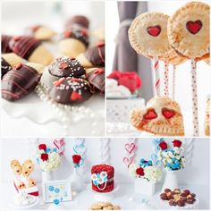 Pearls and Swirls {Valentine's Day Dessert Bar} Full of Cute Ideas via Kara's Party Ideas Kara Allen KarasPartyIdeas.com (14)