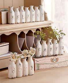 Ceramic Sentiment Vases