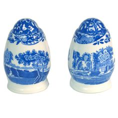 Spode Blue Italian Salt and Pepper Shakers