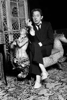 Mister Serge Gainsbourg  (1928-1991) born as Lucien Ginsburg - French singer, songwriter, poet, composer, artist, actor and director.  Eccentric and brilliant!