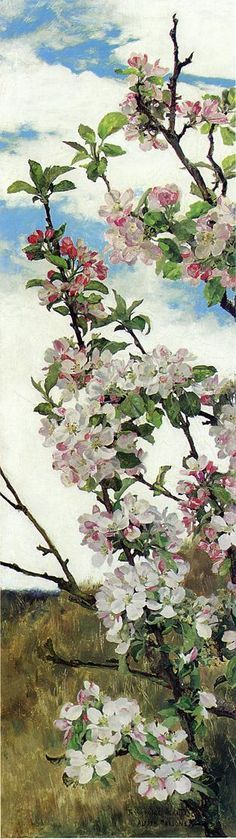 Apple Blossoms by Alfred William Parsons