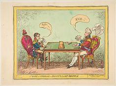 A Game of Cribbage or Boney's Last Shuffle George Cruikshank, London 1814