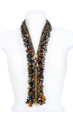 Love this.made from a zipper, just add beads