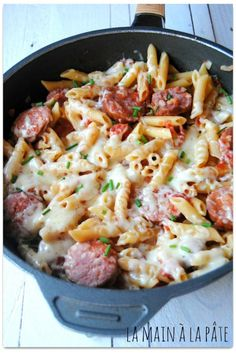 One pot pasta version Franc-Comtoise - Italian Recipes One Pan Pasta, Pot Pasta, How To Cook Pasta, Batch Cooking, One Pot Meals, Italian Recipes, Food Inspiration, Food And Drink, Dinner Recipes