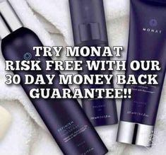 MONAT has a 30 day money back guarantee. Try our amazing products today RISK FREE! My Monat, Monat Hair, Thing 1, Natural Haircare, Hair Care Routine, Good Hair Day, Hair Journey, Anti Aging Skin Care, 30 Day