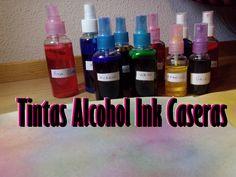 Tintas Alcohol Ink  en Spray Caseras [SCRAPBOOK FACIL Y ECONOMICO] - YouTube