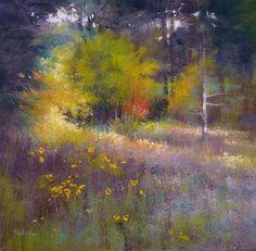 """Last light"" by Barbara Newton - (Art Journal) - Pastel"