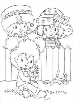 bonecas da moranguinho colorir