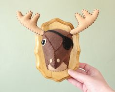 Captain Blackheart Brown-Deer, Faux Taxidermy - A.I.Creatures, by Anatomically Incorrect Creatures for the boys room