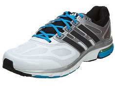 Adidas Supernova Sequence 6 Mens D66755 White Black Blue Running Shoes Size 9
