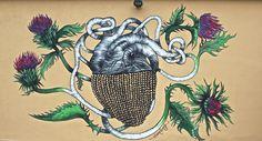 """Growing dreams"" mural for Accademia ZeroNove. Milano   #elenaborghi #illustration #mural #murales #graffiti"