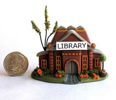 Handmade Miniature  FAIRY LIBRARY - by C. Rohal #CRohal