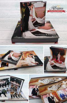 Photo cover wedding album www.albumsremembered.com