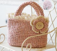 Cali Chic Patterns - Summer Tweed Mini Tote - Crochet Toddler Tote PATTERN 219, $5.00 (http://www.calichicpatterns.com)