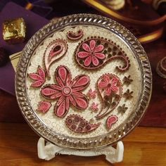 Paisley Coasters....WAY to pretty to put anything on top!!