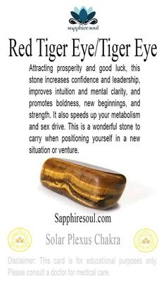 Purchase a piece of tumbled Tiger Eye- a stone of strength and leadership.