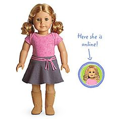 American Girl® Dolls: Light skin, honey-blond hair, hazel eyes    She is so pretty! And shes looks like me a bit! I would name her Virginia, probably.