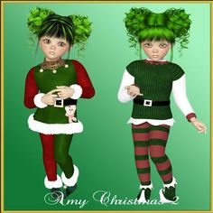 Amy Christmas 2 png by Christine Hart Amy Christmas 2 png is a beautiful little girl dressed in her christmas outfit waiting for Christmas Day Amy is on a transparent background in png format Amy has even gone a little trendy in this pack as she has green hair especially for Christmas!