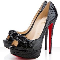 Christian Louboutin Madame Butterfly 150 Python Pumps Black [CLA0649] - $124.32 : Designershoes-shopping, World collection of Top Designer high heel UP TO 90% OFF!