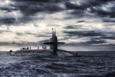 Submarino, Barco, Mar, Oceano, Água