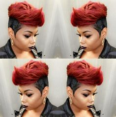 short thin hairstyles hairstyles with bangs thin hairstyles for over 50 short thin hairstyles hairstyles 2018 hairstyles thin hairstyles round face thin hairstyles Short Black Hairstyles, Hairstyles With Bangs, Weave Hairstyles, Short Hair Cuts, Girl Hairstyles, Pixie Cuts, Medium Hairstyles, 27 Piece Hairstyles, 1940s Hairstyles