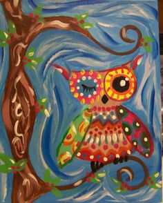 Our kid's Tree Owl at Whimsy Art Studio Our Kids, Christmas Crafts, Owl, Studio, Painting, Animals, Animales, Animaux, Xmas Crafts