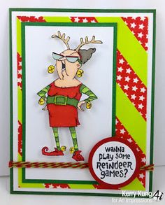 Reindeer Games set (SKU#4351), Art Impressions Christmas Card. New for 2013