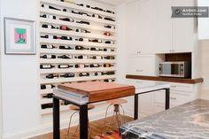 recessed wine rack