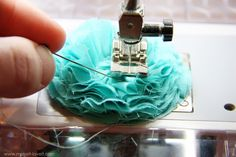 Out of all circles. like the sewing rather than gluing to secure it. Fabric flower tutorial