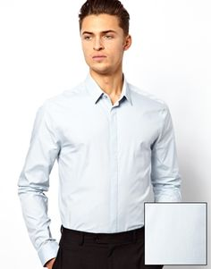 ASOS Smart Shirt in Long Sleeve in Cotton at ASOS. Asos Men, Shirt Dress, Long Sleeve, Sleeves, Mens Tops, Shirts, Shopping, Fashion, Formal Blouses