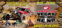 The General Tire Vegas to Reno #V2R @bitd_racing will be August 15, 16, 17, with race day on Friday, August 17th