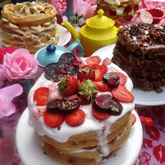 Just a few of the Waffle Cakes I made for my Tea N Waffle cake Party yesterday!! #Love was the theme! More pics to come!! Kisses to my friends who joined me @yvonne_deliciously_vegan @alexkaru @ecovegangal @jasonwrobel @thejoshdgarcia @latriraisfresh @elliemaemcnulty  #glutenfree #vegan #plantbased #food #foodies #gfdf #gfdfsf #feedfeed @thefeedfeed #top8free #f52grams  #eeeeats #nomnom #foodgawker  #buzzfeedfood #celiac #sansgluten #coeliac #yahoofood #glutenfreevegan #vegetarian…