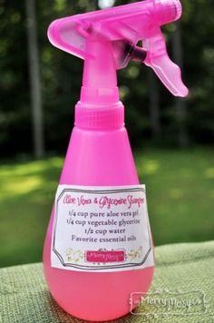 My Merry Messy Life: Aloe Vera and Glycerine Shampoo with Free Printable Label