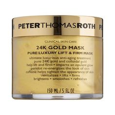 Just tried this 24K gold mask from #PeterThomasRoth for the first time. So luxurious! You can really see and feel the difference. #Sephora