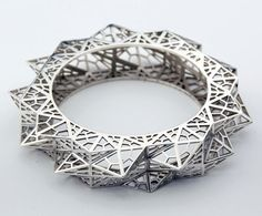 Fathom & Form Jewelry is a San Francisco based jewelry studio that uses digital fabrication to create their line of statement pieces. With architecture and interior design in their education backgrounds, the duo had the experience with 3D printing and other types of technologies that they brought to the development of their collection.