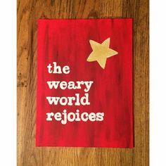The Weary World Rejoices by NettyAndJoey on Etsy