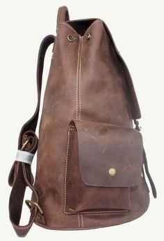 adaac8968053 Vintage Genuine Leather Backpack  Travel Backpack by RockCowStudio