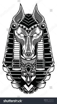 #anubis #egipto #tatoo #tatuajes #tattoos Tattoo Drawings, Body Art Tattoos, Small Tattoos, Egyptian Mythology, Egyptian Symbols, Egyptian Tattoo Sleeve, Egyptian Drawings, Zombie Drawings, Anubis Tattoo
