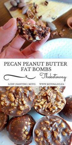 PECAN PEANUT BUTTER FAT BOMBS | Keto | South Africa | The Keto way