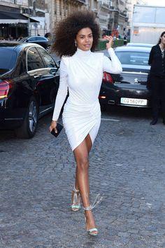 Tina Kunakey, Afro, Dior Haute Couture, French Models, Celebs, Celebrities, Red Carpet Fashion, White Fashion, Daily Fashion